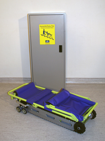 Emergency evacuation stair chair operation picture
