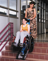 The Stair-Trac allows easy, portable accessibility for individuals.