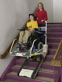 wheelchair lifts portable super trac garaventa lift